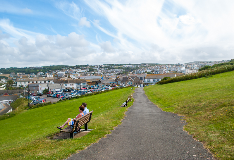 Image of the greenery and blue skies in st ives, west cornwall, england, UK