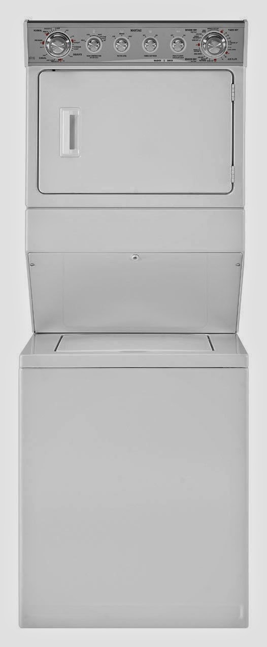 maytag mgt3800xw 8 4 cf white gas washer dryer combo