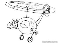Gambar Helicopter Untuk Diwarnai Anak-Anak