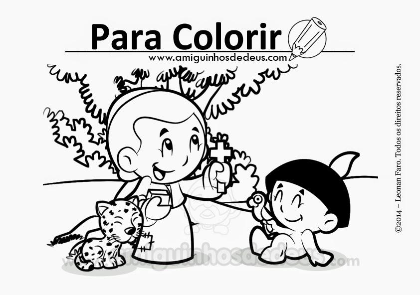 José de Anchieta desenho para colorir