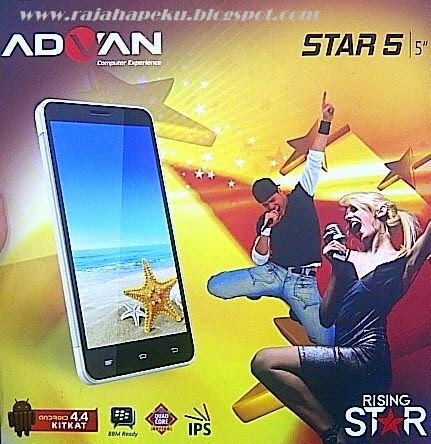 Harga Dan Spesifikasi Advan Vandroid Star 5 News Editions, OS Android KitKat And Camera 8 MP