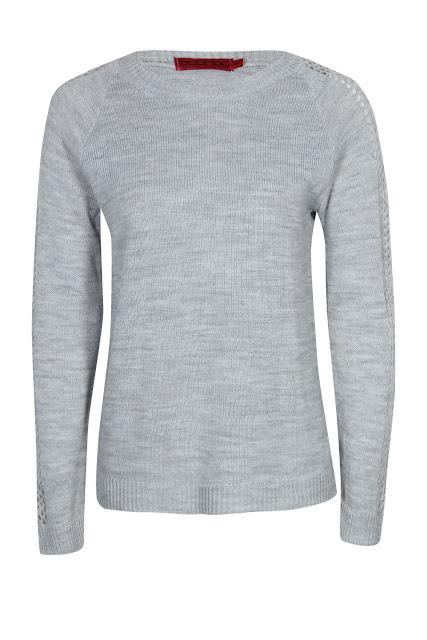 mesh sleeve jumper