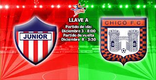 Boyacá Chicó Vs Atlético Junior - Cuartos de Final