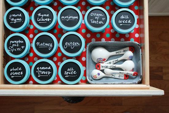 Chalkboard spice jars   raising up rubies