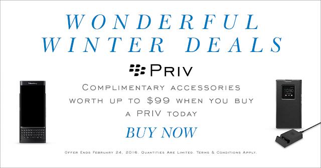Blackberry Priv Bonus Aksesoris Senilai $99 (Rp1.3 juta )
