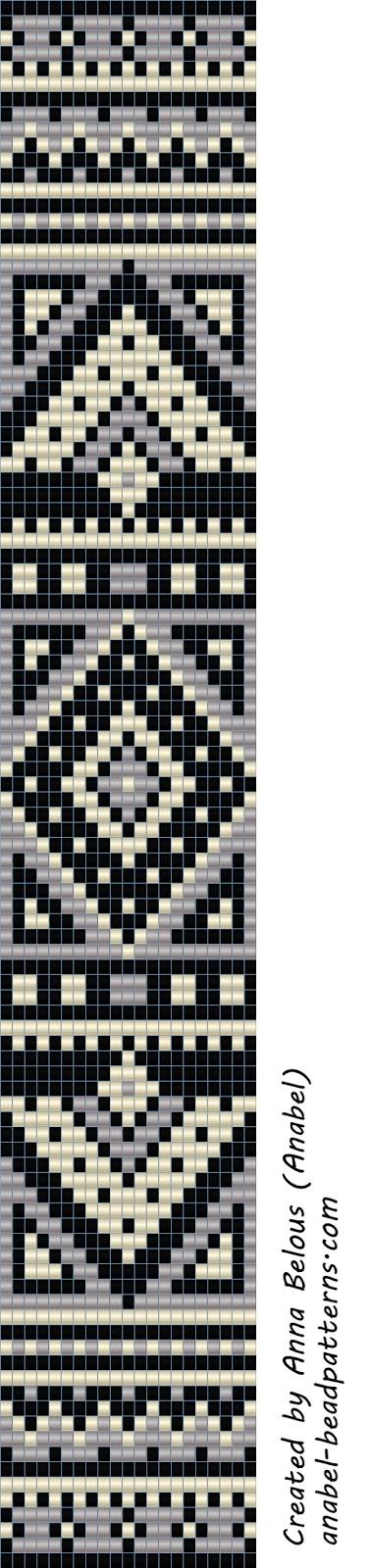 Схема монохромного браслета