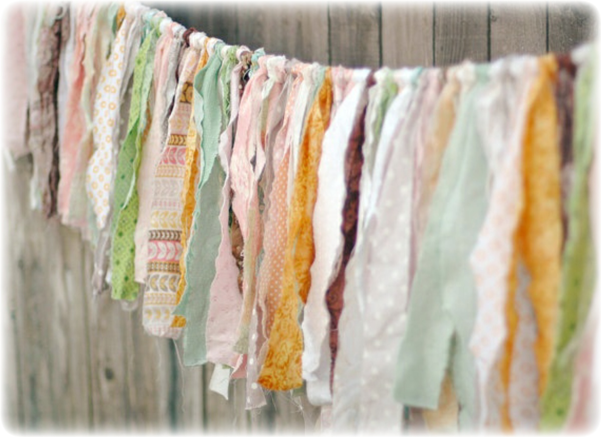 Гирлянда для свадьбы из ткани своими руками