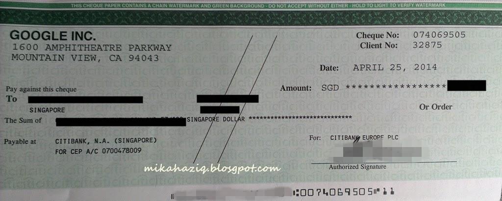 adsense google blog payout