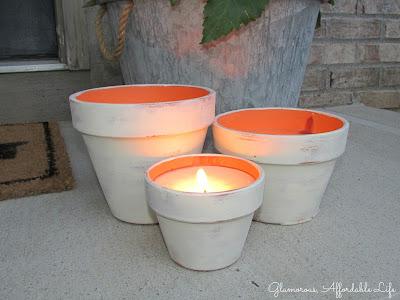 Zitronen Kerzen basteln