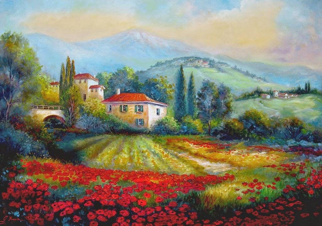 paisajes-con-fincas-y-flores-pintadas