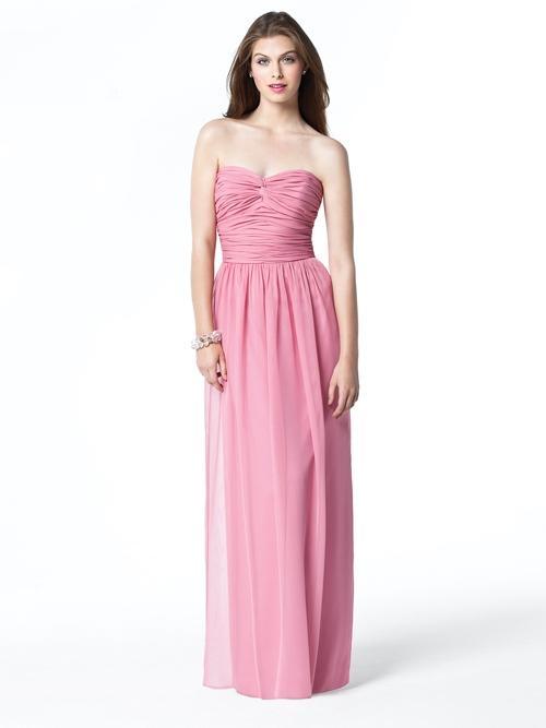 Long Bright Pink Bridesmaid Dress Designs Wedding Dress