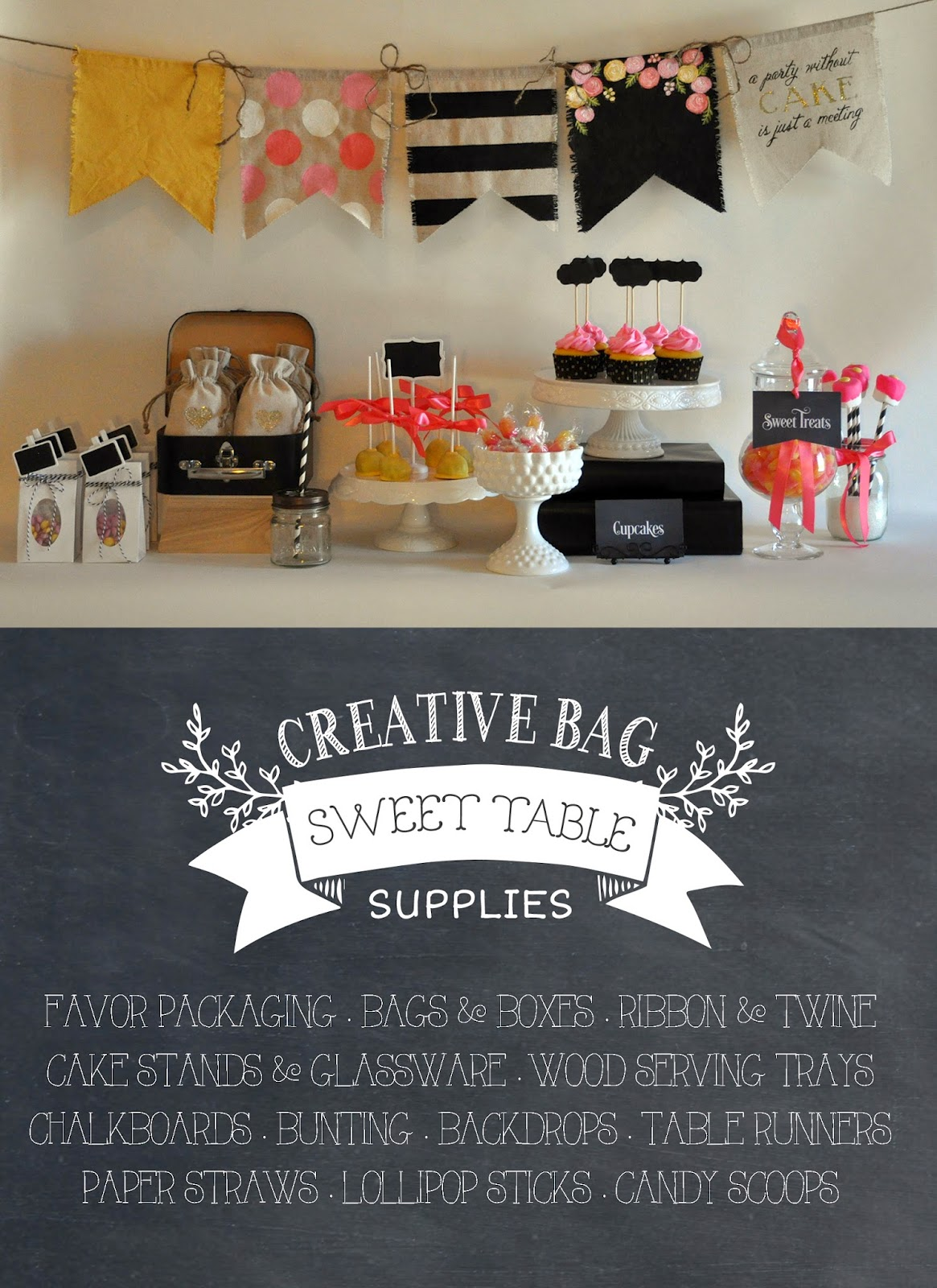 Fabulous diy sweet table supplies for parties, weddings and special events | creativebag.com