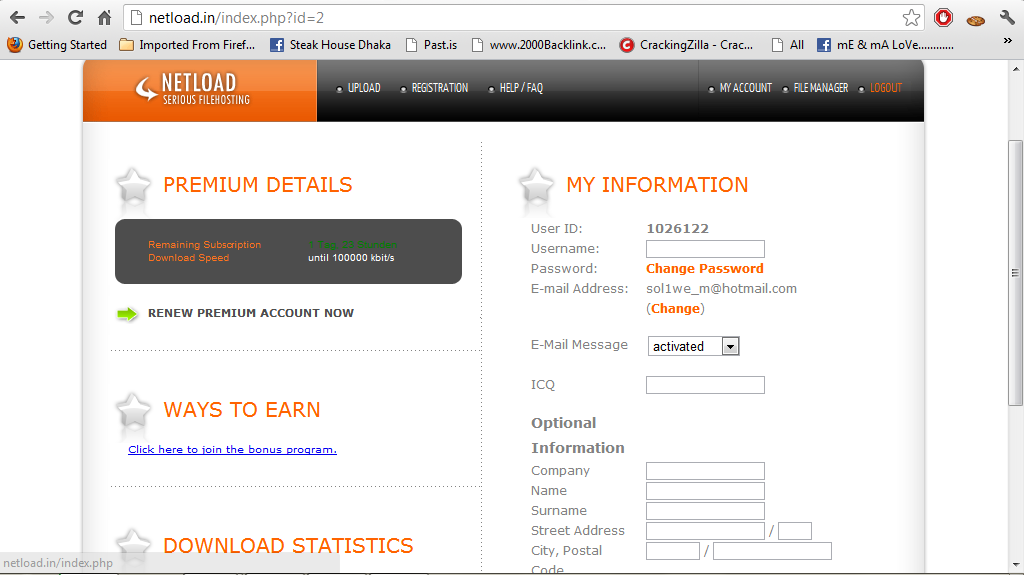 Netload in premium accounts 21 march 2013 with proof blog blog