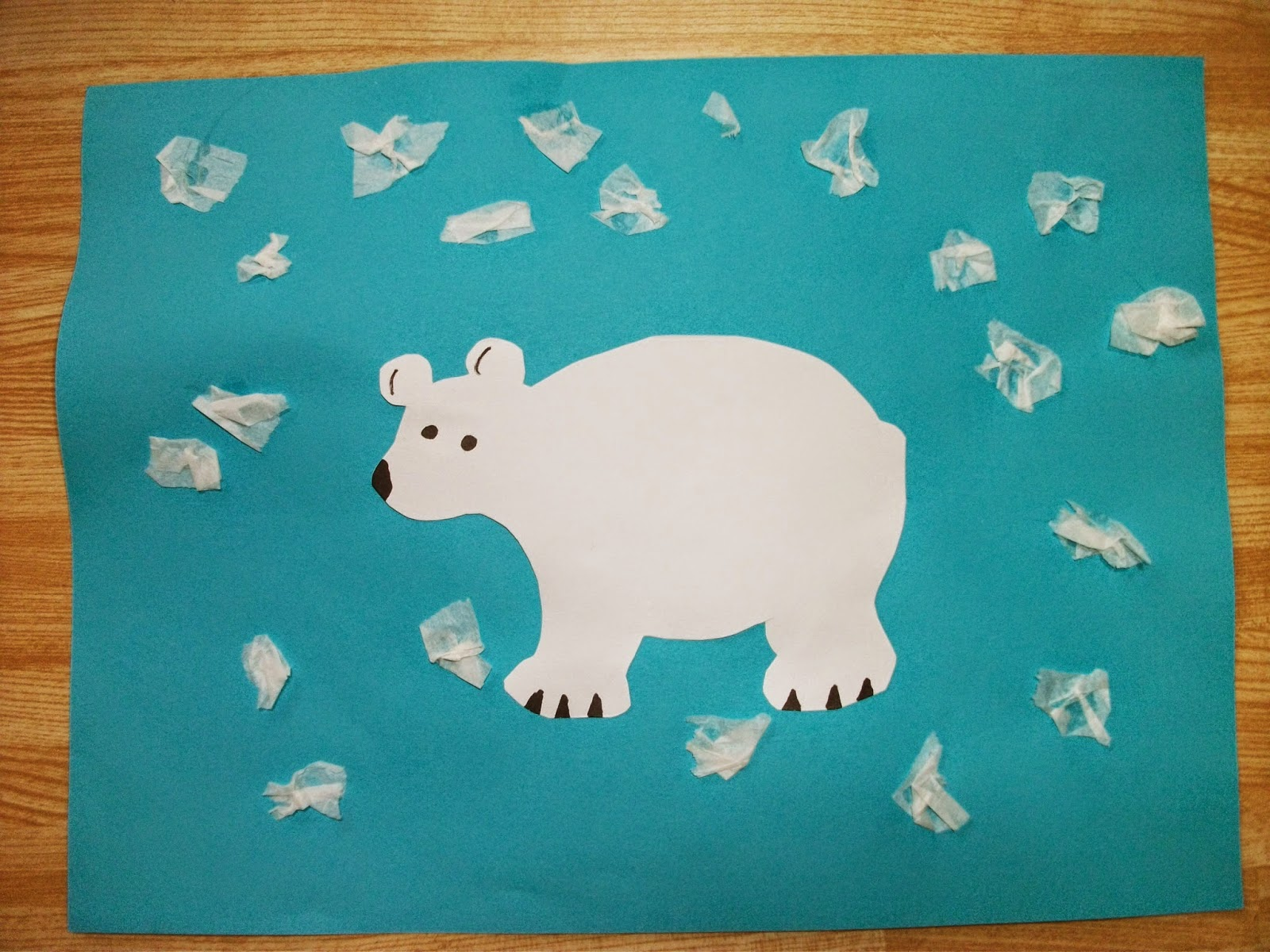 polar bear crafts for preschoolers preschool crafts for easy polar tissue snow craft 976