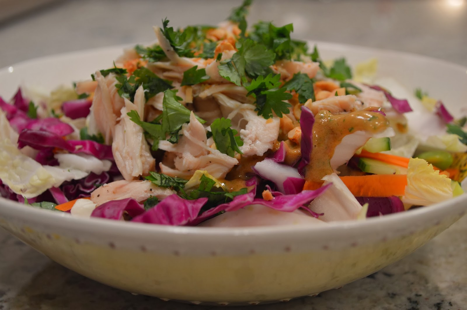 peace. love. & good food.: Thai Crunch Chicken Salad