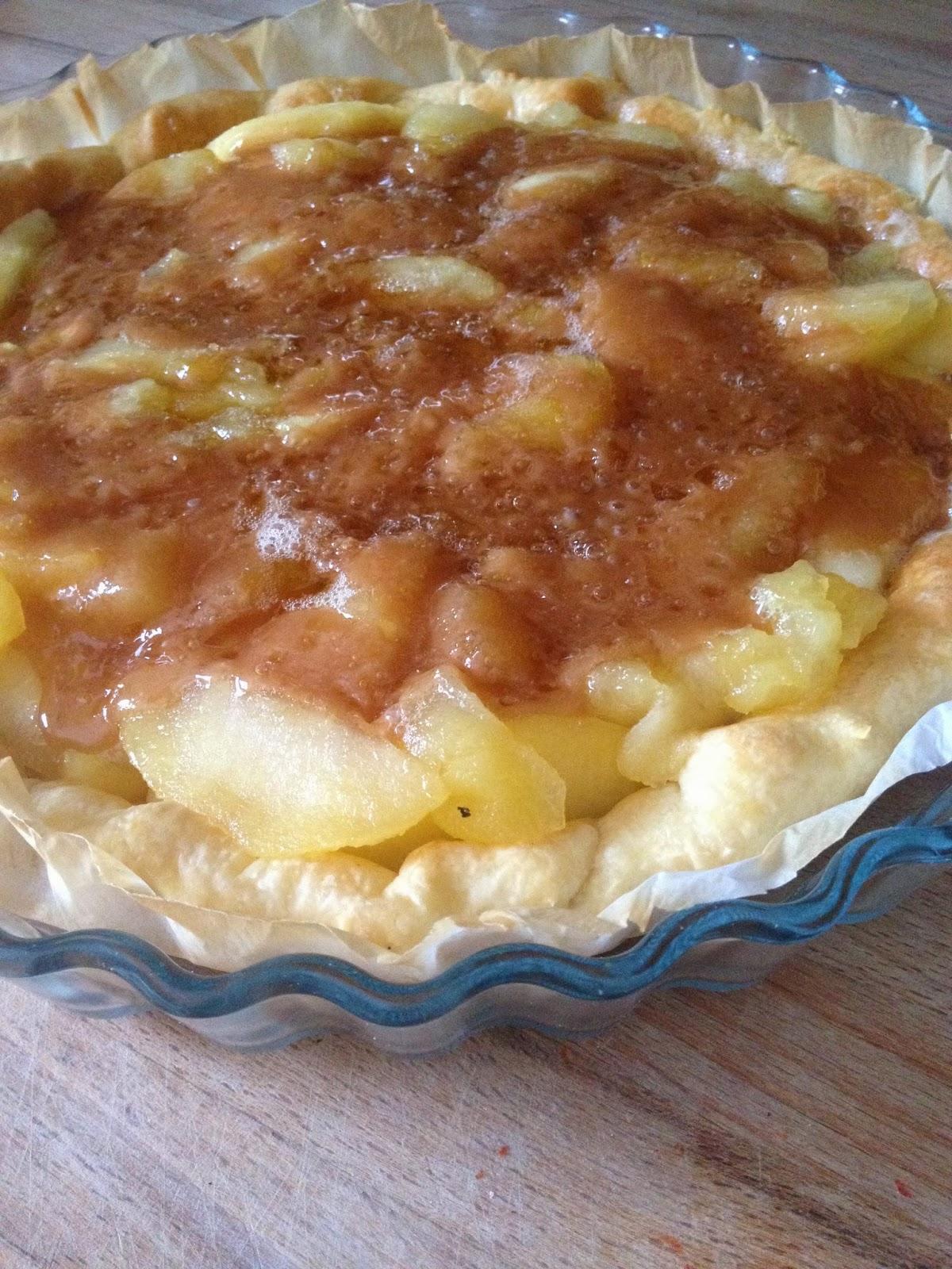 le pour mes copines tarte aux pommes caram 233 lis 233 es