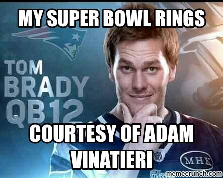 #Brady #superbowl #rings #nfl._ My superior bowl rings, courtesy of Adam vinatieri