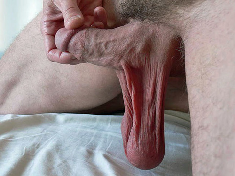 Sexual Low hanging cock from