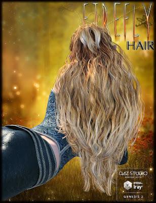 3d Models Art Zone - FireFly Hair for Genesis 2 Female(s) and V4