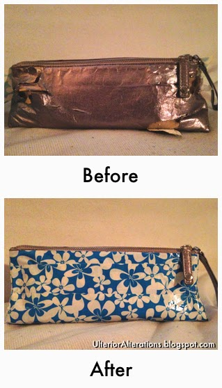Ulterior Alterations: Makeup Bag Fix Before & After