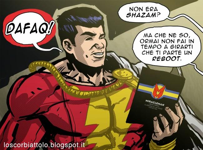 shazam miracleman capitan marvel fumetto comics meme funny gag mirko treccani