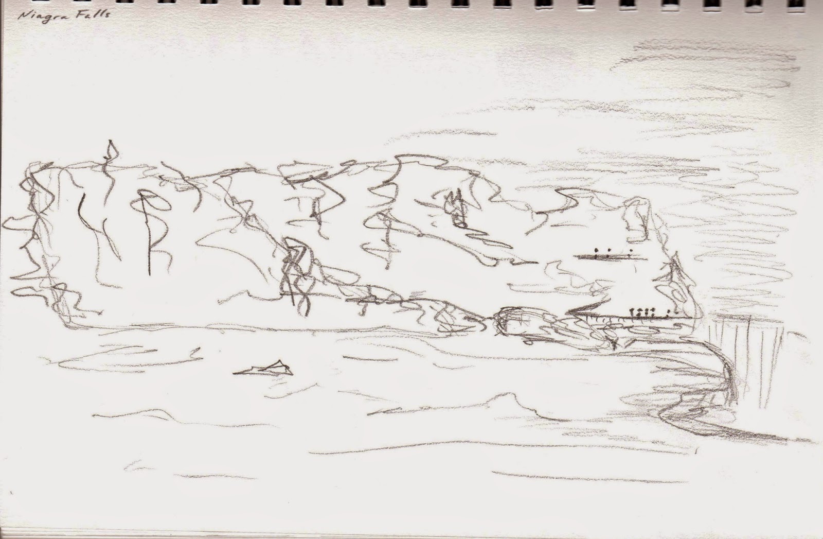 Living Design Sketch a State New York Niagra Falls