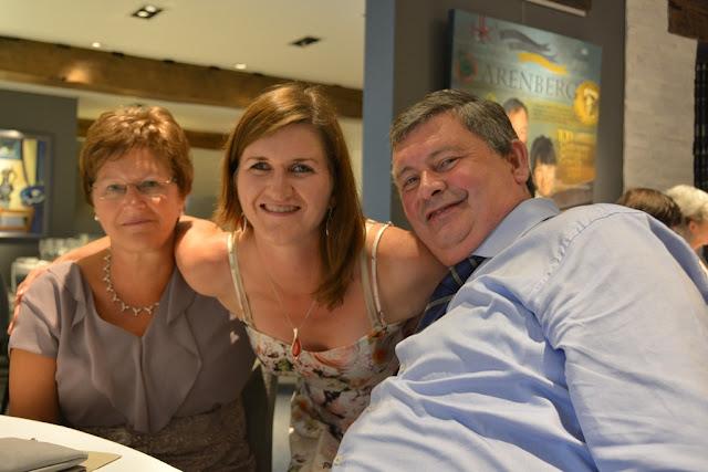 Kristel Pardon met ouders