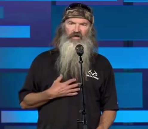 duck commander phil robertson from duck dynasty spoke to the