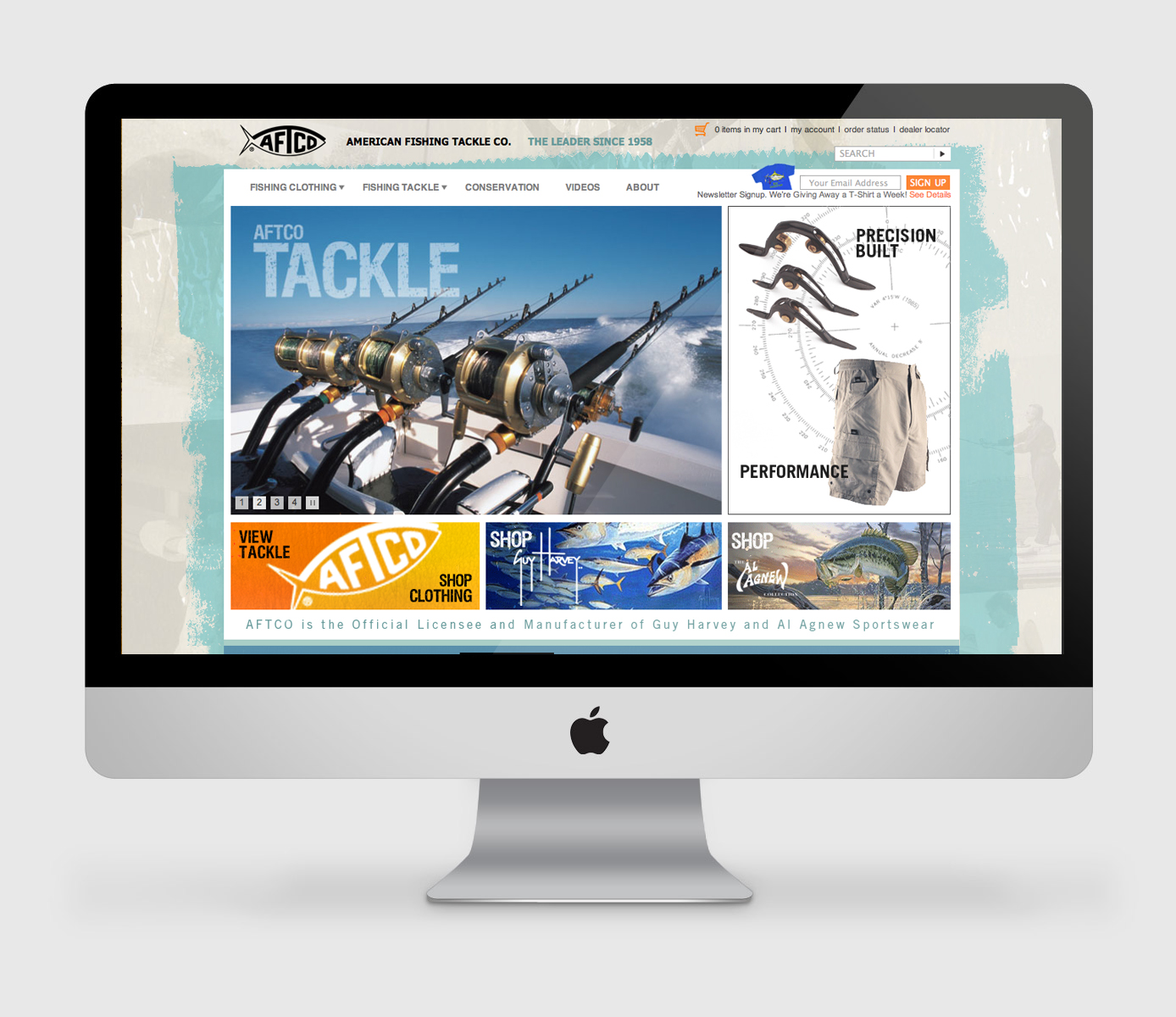 Website design aftco american fishing tackle company for American fishing tackle company