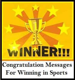 Congratulation Messages Winning