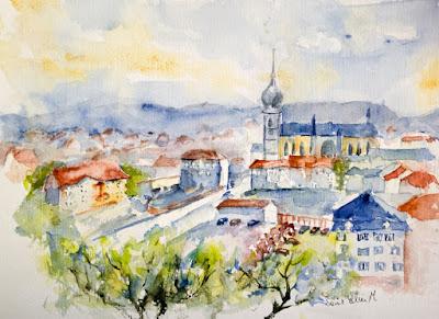watercolor Remiremont
