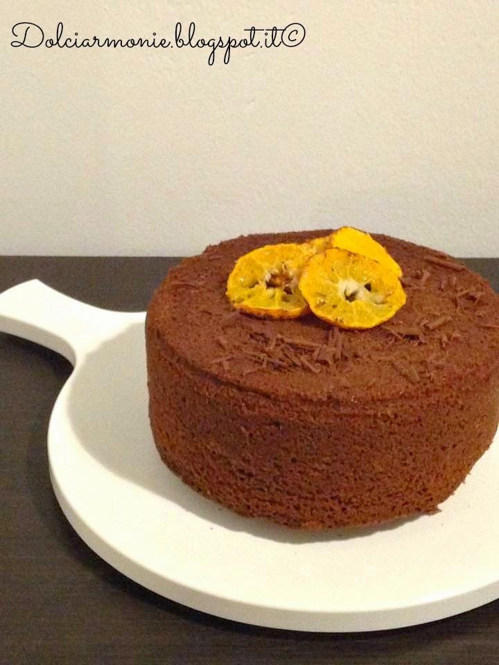 tortina alle arance,mandarini, cacao e cannella.