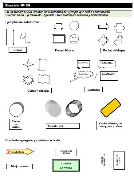 ejercicios word 2003: