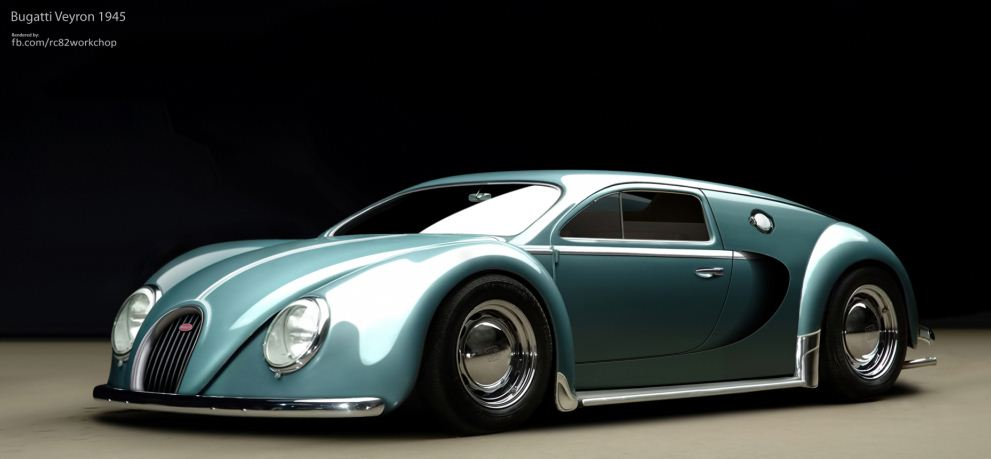 Just A Car Guy Cool Little Bugatti Concept Car Art By Rc Workchop - Cool car art