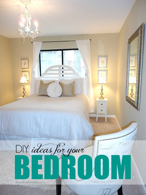 DIY ideas for bedroom. Check out the great budget decorating ideas in this post!