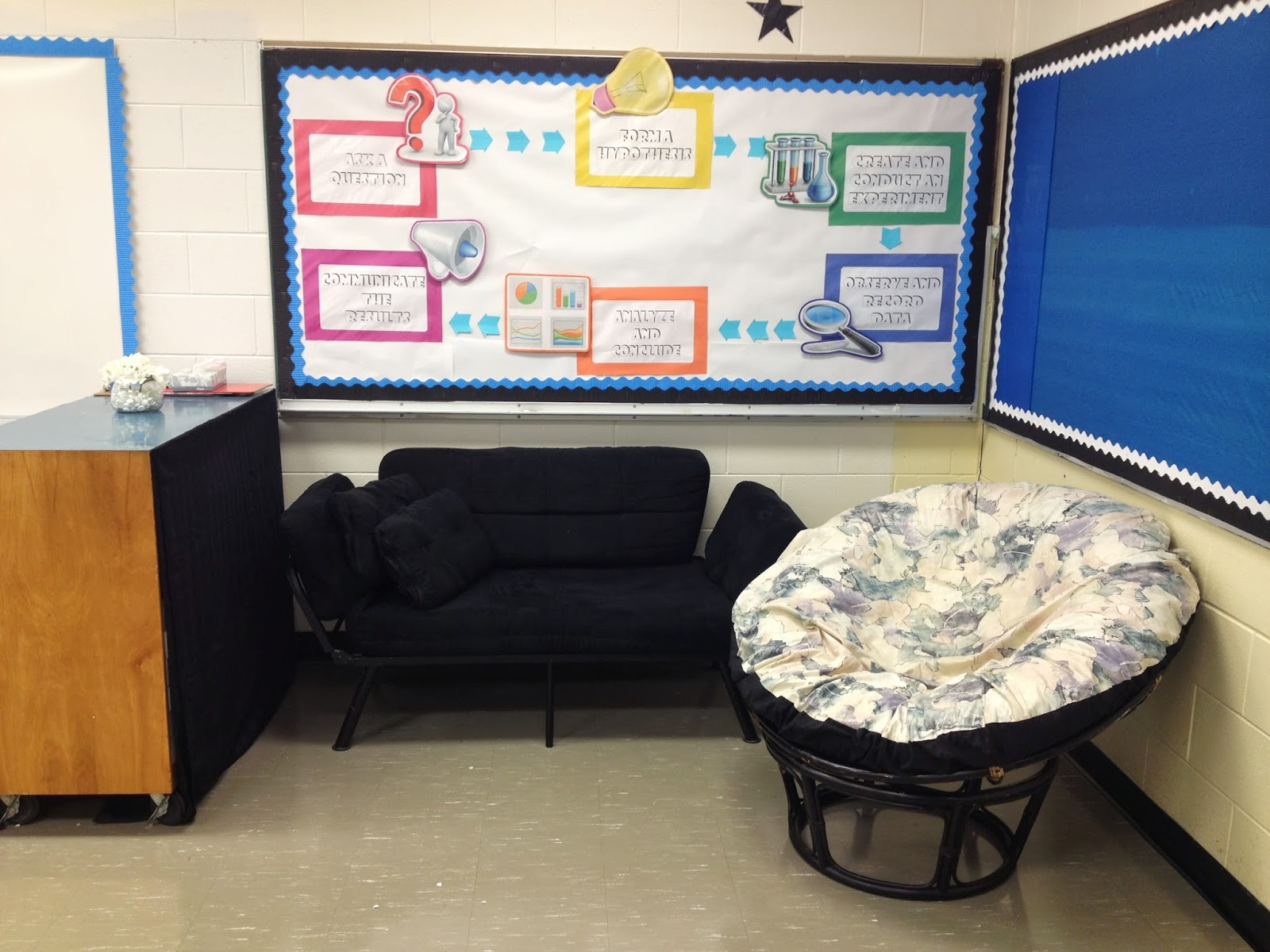 bringing in additional furniture to the classroom, couches in class