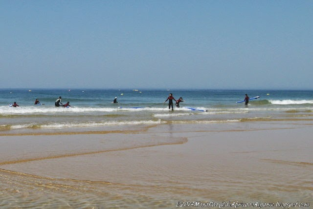 bodyboarding at Gale beach, Algarve