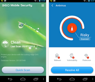 Android Apps: 360 Mobile Security- Antivirus Android App Free Download