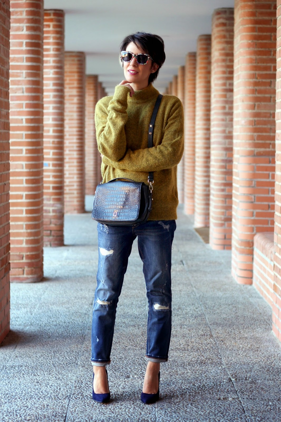 Outfits Con Jeans Azul Marino