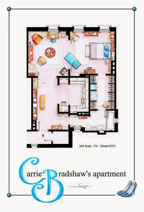 Carrie Bradshaw S Apartment Floor Plan Daily Dream Decor