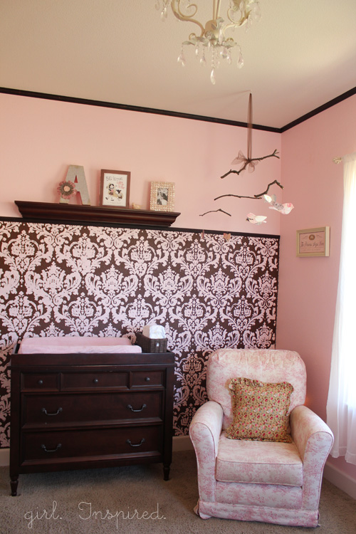 Pink And Brown Baby Nursery