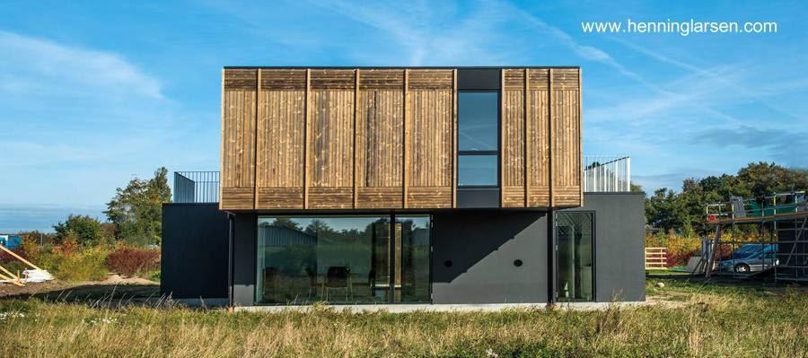 Casa prefabricada danesa adaptable concepto flexible