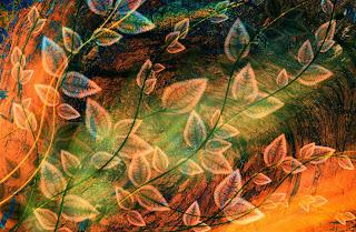 Fondo Romatico flores abstracto