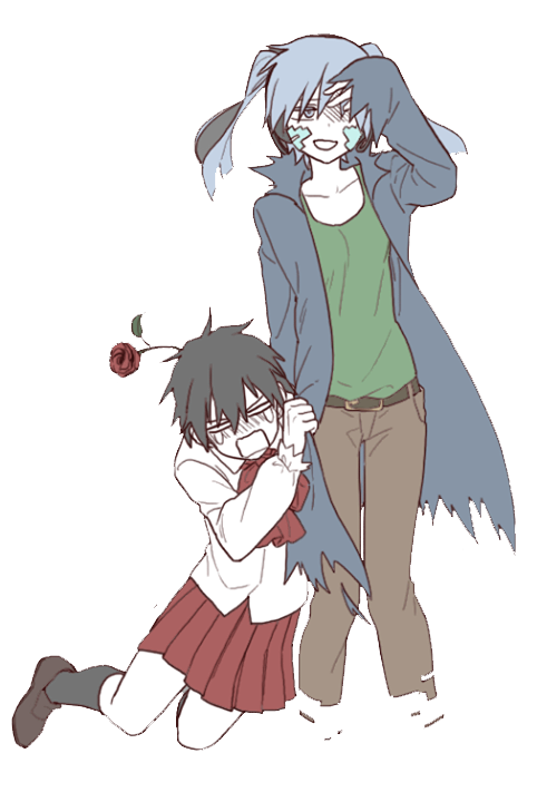 PNG-Shintaro y Ene Crossover Ib // Kagerou Project