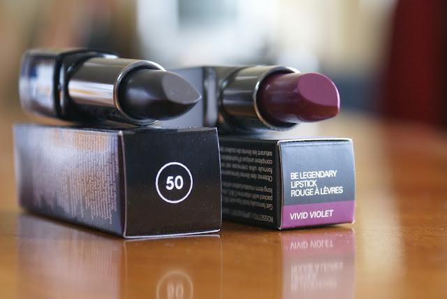 Smashbox Vivid Violet, MUFE 50 Black