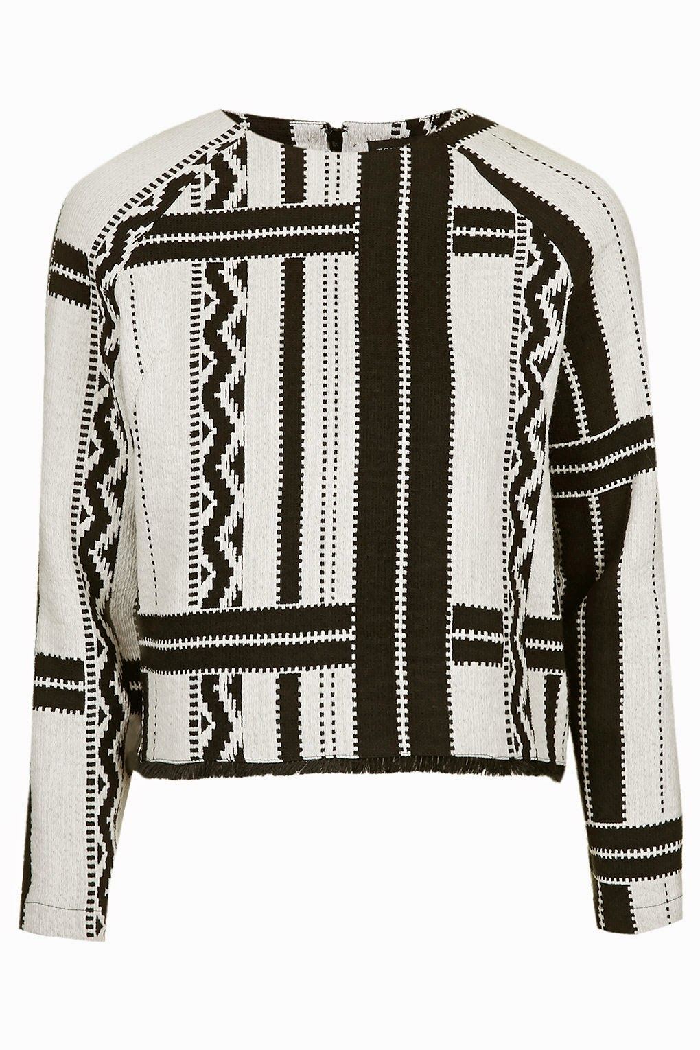 black white print jumper, topshop black white jumper,