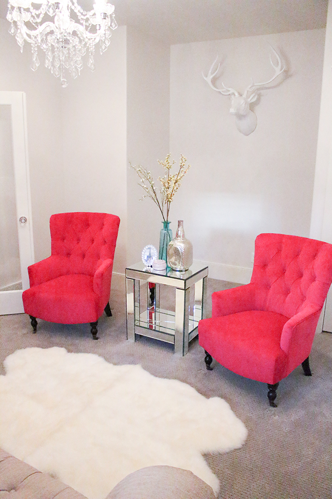 , chairs on sale, furniture sale, pink accent chair in living room