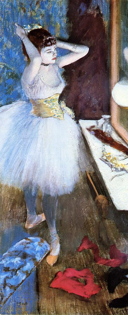 dressing room,edgar degar ballet,ballerina painting