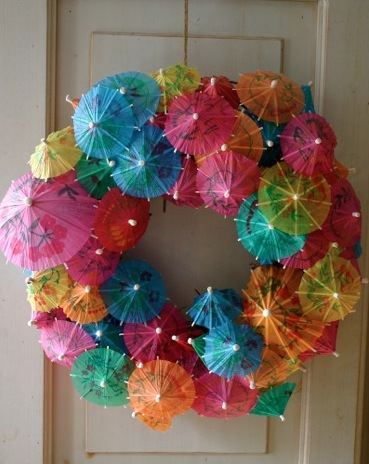 Party wreath umbrellas