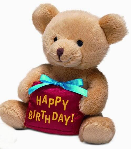Gambar boneka teddy bear berulang tahun